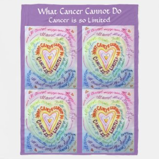 What Cancer Cannot Do Heart Fleece Chemo Blanket
