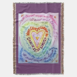 What Cancer Cannot Do Heart Poem Art Throw Blanket
