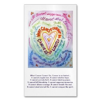 What Cancer Cannot Do Heart Poem Custom Magnets