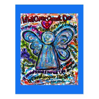What Cancer Cannot Do Poem Angel Art Postcards