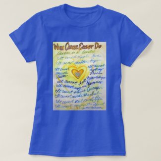 What Cancer Cannot Do Poem Angel Custom Shirts