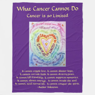 What cancer cannot do poem heart chemo blanket
