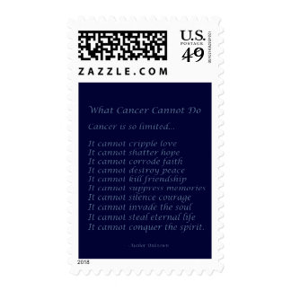 What Cancer Cannot Do Poem Postage Stamps