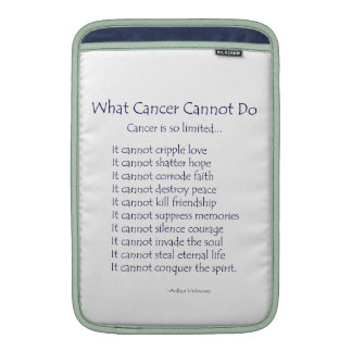What Cancer Cannot Do Poem Prayer iPad Sleeve Case