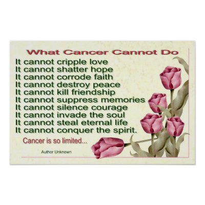 The latest what cancer cannot do poem video from 2leep
