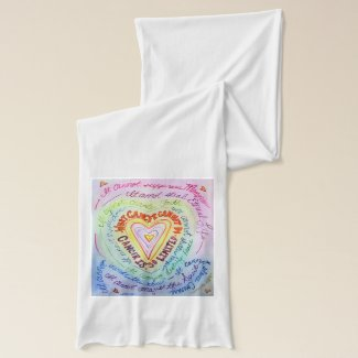 What Cancer Cannot Do Rainbow Heart Scarf Design