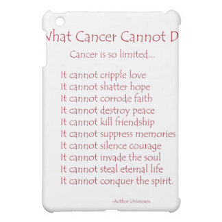 What Cancer Cannot Do Red Poem iPad Fitted Case Case For The iPad Mini