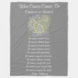 What Cancer Cannot Do White Angel Chemo Blanket