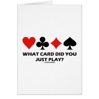 What Card Did You Just Play? (Four Card Suits)