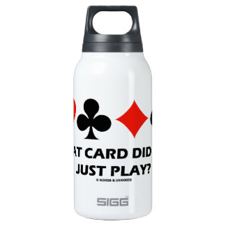What Card Did You Just Play? (Four Card Suits) SIGG Thermo 0.3L Insulated Bottle