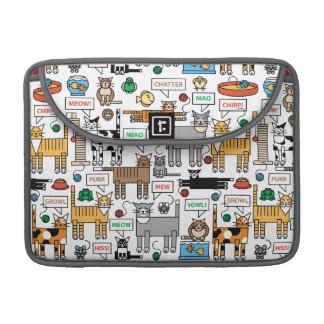 What Cats Say MacBook Pro Sleeve