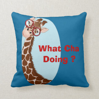What Cha Doing ? Throw Pillow