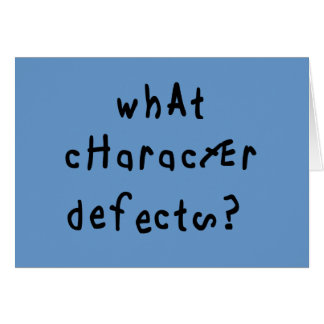 What Character Defects Card