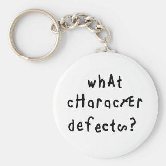 What Character Defects Keychain