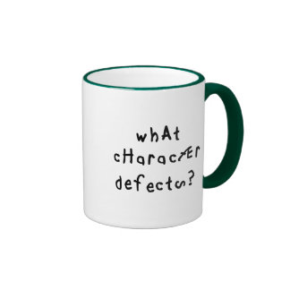 What Character Defects Ringer Mug
