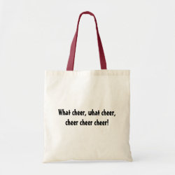 Budget Tote with Northern Cardinal design