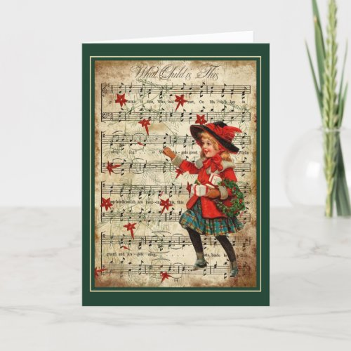 What Child is This Music Art Christmas Card