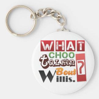 What choo talkin bout Willis? Basic Round Button Keychain