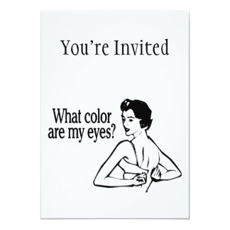 What Color Are My Eyes Retro Card
