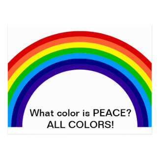 What color is PEACE? Postcard