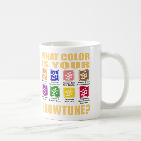 What Color/Showtune Mug