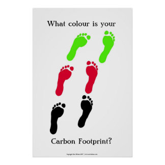 What colour is your carbon footprint? poster