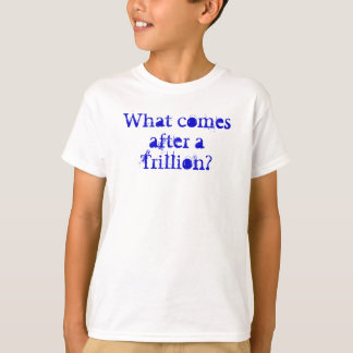 What comes after a Trillion? T-Shirt