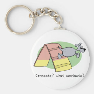 What Contacts? Dog Agility Keychain