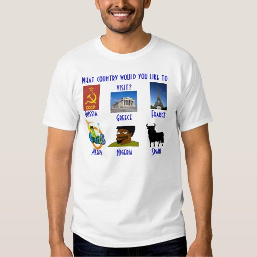 What country would you like to visit? t shirts