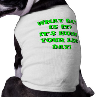 What Day Is It? It's Hump Your Leg Day! Pet Tshirt