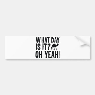 What Day Is It? Oh Yeah! Hump Day! Bumper Sticker