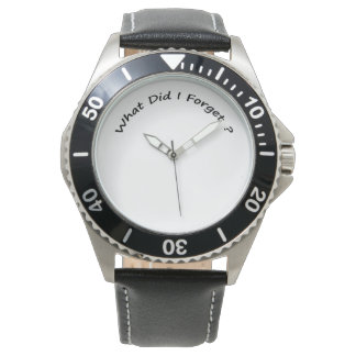 What Did I Forget ?-  Men's Watches. Wristwatch