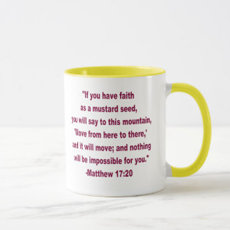 What Did Jesus Say: Mustard Seed Mug
