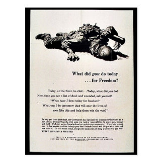 What Did You Do Today For Freedom? Post Cards