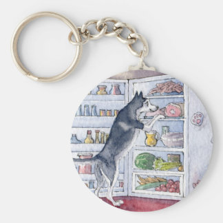 What do I fancy for supper tonight? Basic Round Button Keychain
