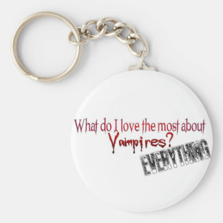 What do I like the most about Vampires? Basic Round Button Keychain