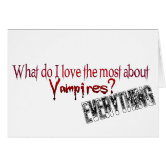What do I like the most about Vampires? Cards