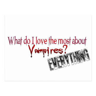 What do I like the most about Vampires? Postcard