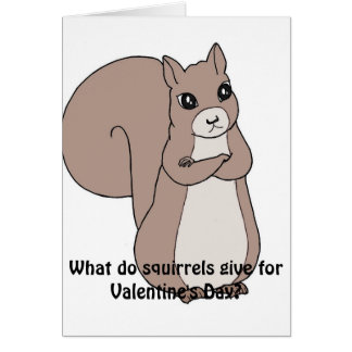 What do squirrels give for Valentine's Day Card