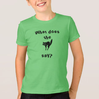 What do the frightened cat say? T-Shirt