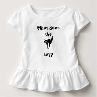 What do the frightened cat say? toddler t-shirt