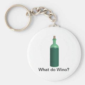 What do Wino? Basic Round Button Keychain