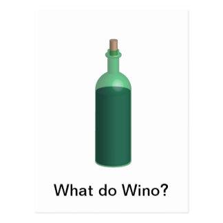 What do Wino? Postcard