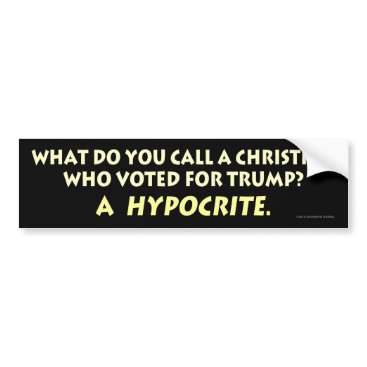 LavenderLiberalv2 What Do You Call a Christian Who Voted for Trump? Bumper Sticker