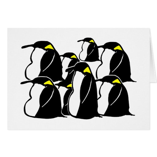 What Do You Call A Group of Penguins? Greeting Cards