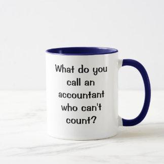 What do you call an accountant...? One Liner joke Mug