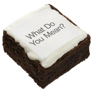 What Do You Mean? Square Brownie