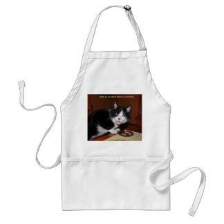 What do you mean there's no ketchup? adult apron