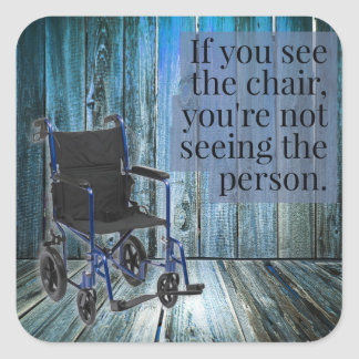 What do you see? Wheelchair Square Sticker
