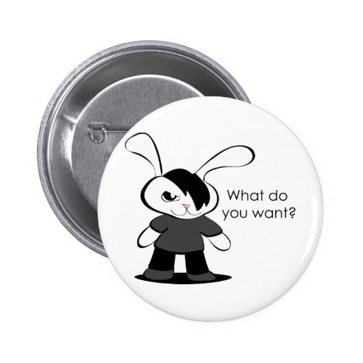 What do you want? 2 inch round button